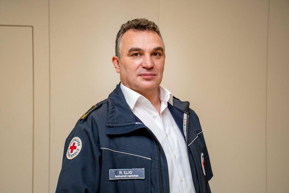 René Illig vom DRK-Kreisverband Döbeln-Hainichen ist zuständig für das Impfzentrum des Landkreises in Mittweida.