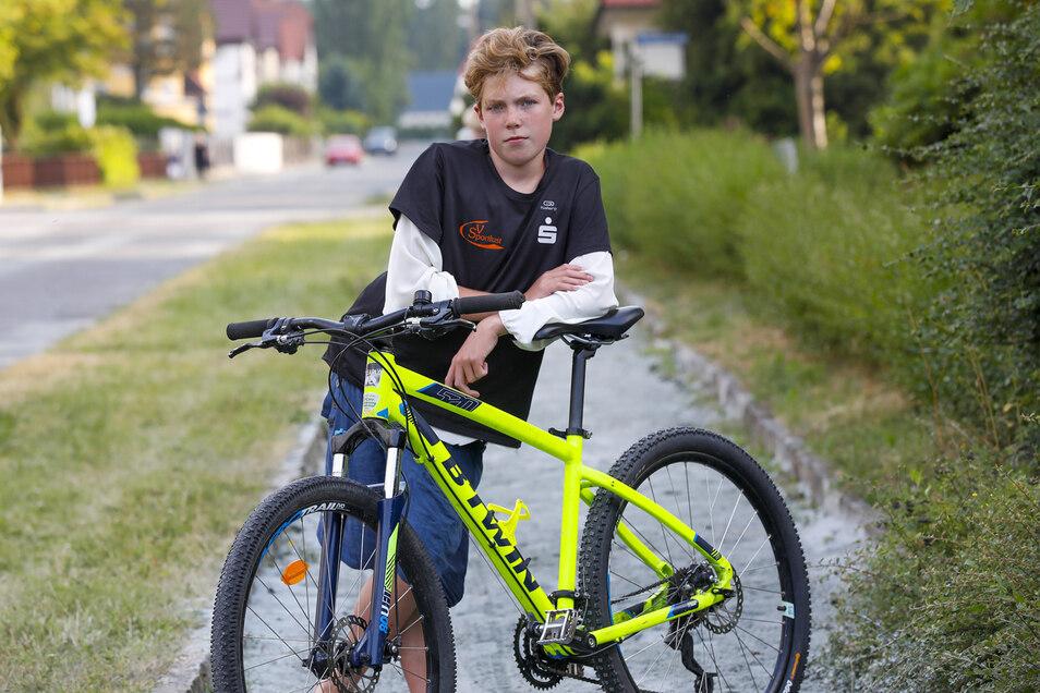 Nils Bergsträßer war auf Zack, als ein Mann sein Fahrrad stahl.