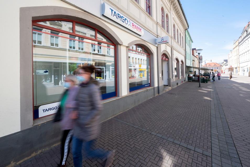 Die Filiale der Targobank an der Riesaer Hauptstraße.