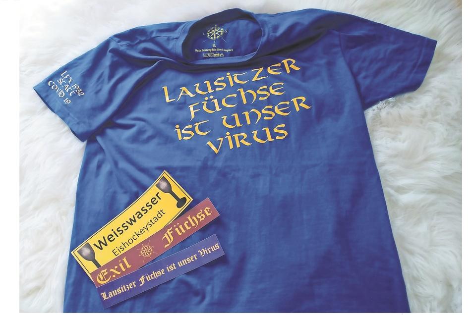Mit diesem T-Shirt sammelten die Exil-Füchse für den Eissport Weißwasser.