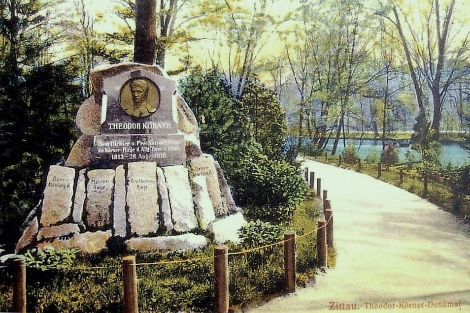 Das Denkmal zur Erinnerung an Theodor Körner war ein Ausgangspunkt für die Gestaltung des Parkes.