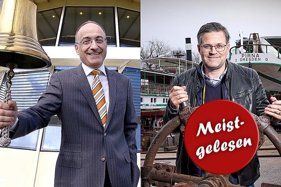 Zwei Männer und die Dampfer: Der neue Dampferchef Robert Straubhaar (links) und Werft-Geschäftsführer Sven Spielvogel.