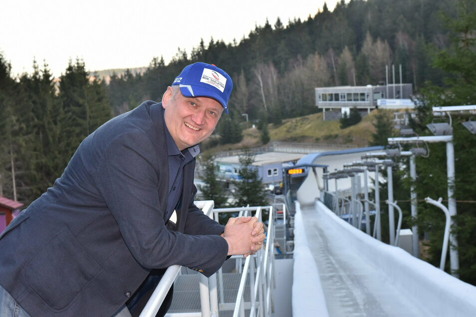 Jens Morgenstern, Geschäftsführer WiA, hat schon die WM-Mütze für 2021 auf.