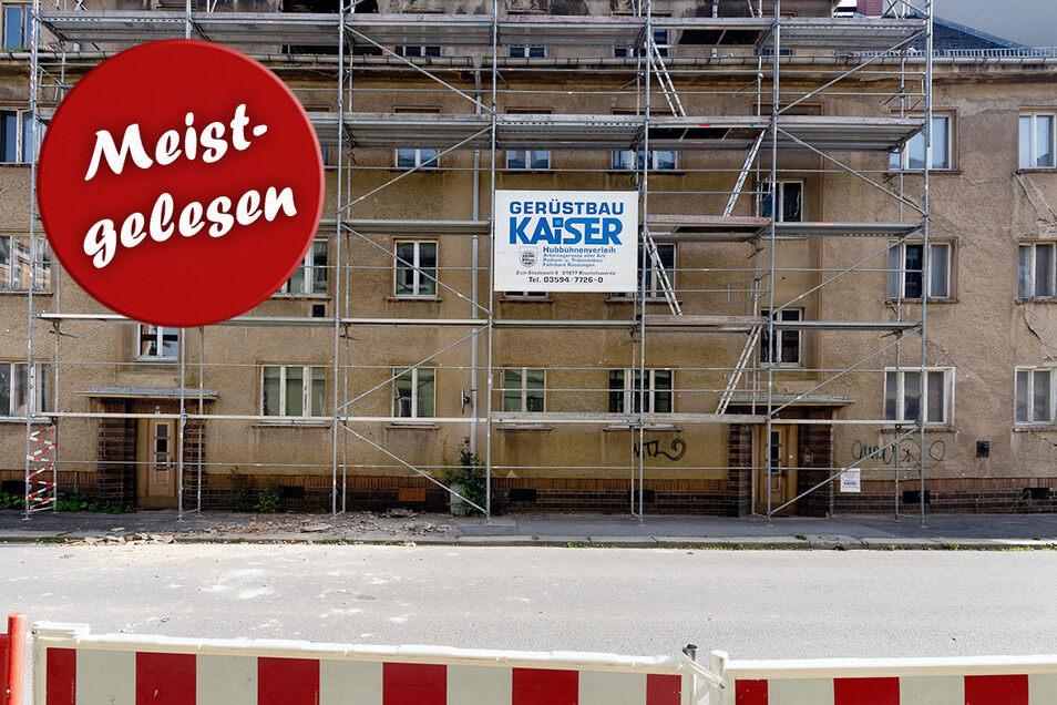 So sah es im September vorigen Jahres an dem baufälligen Gebäude an der Karl-Liebknecht-Straße in Bischofswerda aus.