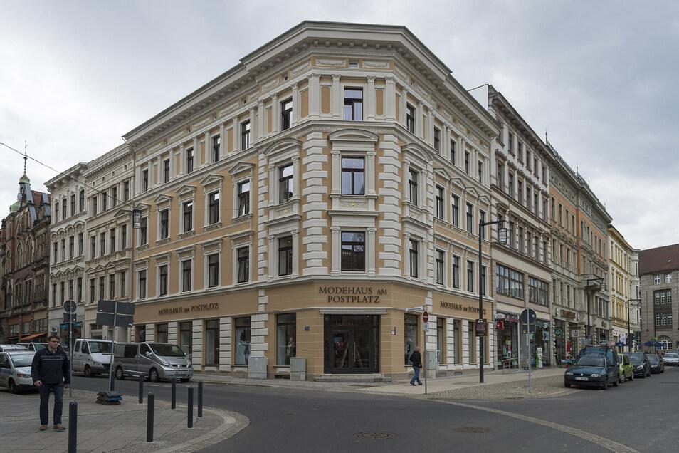 Dieses Haus am Görlitzer Postplatz sanierte Winfried Stöcker und richtete darin ein Modehaus ein.