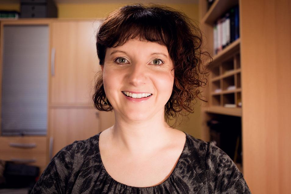Preisträgerin Jana Mundus ist aus ihrem Homeoffice der Preisverleihung zugeschaltet.