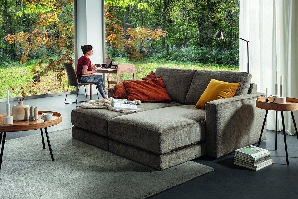 ... oder eher kompakte Modelle: die Auswahl an Polstermöbeln ist beim Einrichtungshaus Käppler ebenfalls groß.