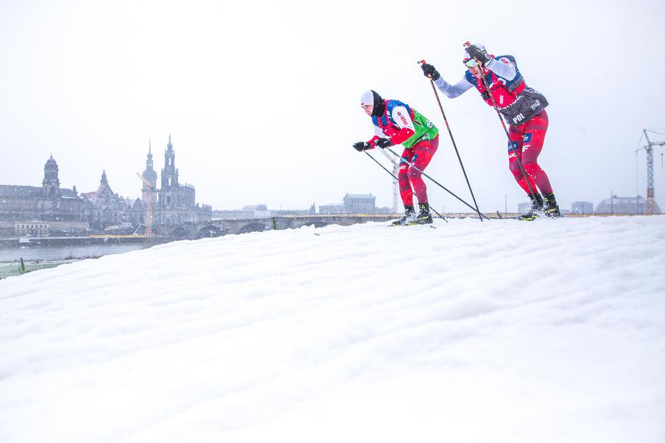 Am 11. und 12. Januar 2020 werden die Skilangläufer wieder am Elbufer sprinten.