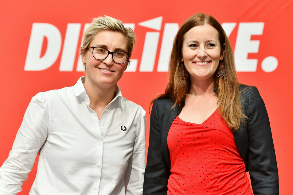 Susanne Hennig-Wellsow (l.) aus Thüringen und Janine Wissler aus Hessen wollen die neuen Doppelspitze der Linkspartei werden.