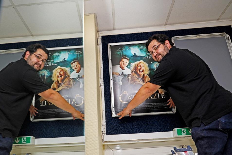 """Die Komödie """"Catweazle"""" läuft am kommenden Donnerstag. Kino-Chef Alexander Malt lädt nach langer Zwangspause wieder zum Besuch im Meißner Filmpalast ein."""