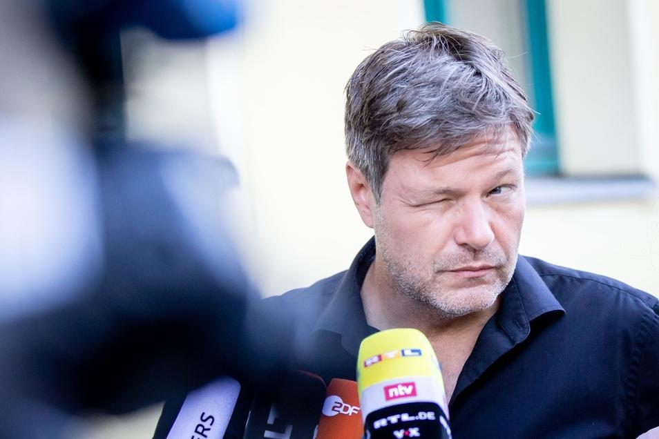 Der Parteivorsitzende von Bündnis 90/Die Grünen, Robert Habeck, kündigt eine Doppelspitze für den Fall einer Neuwahl an.