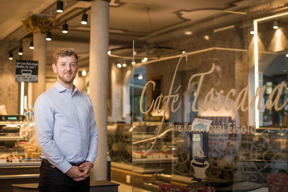 Clemens Eisold führt das Café Toskana in dritter Generation weiter.