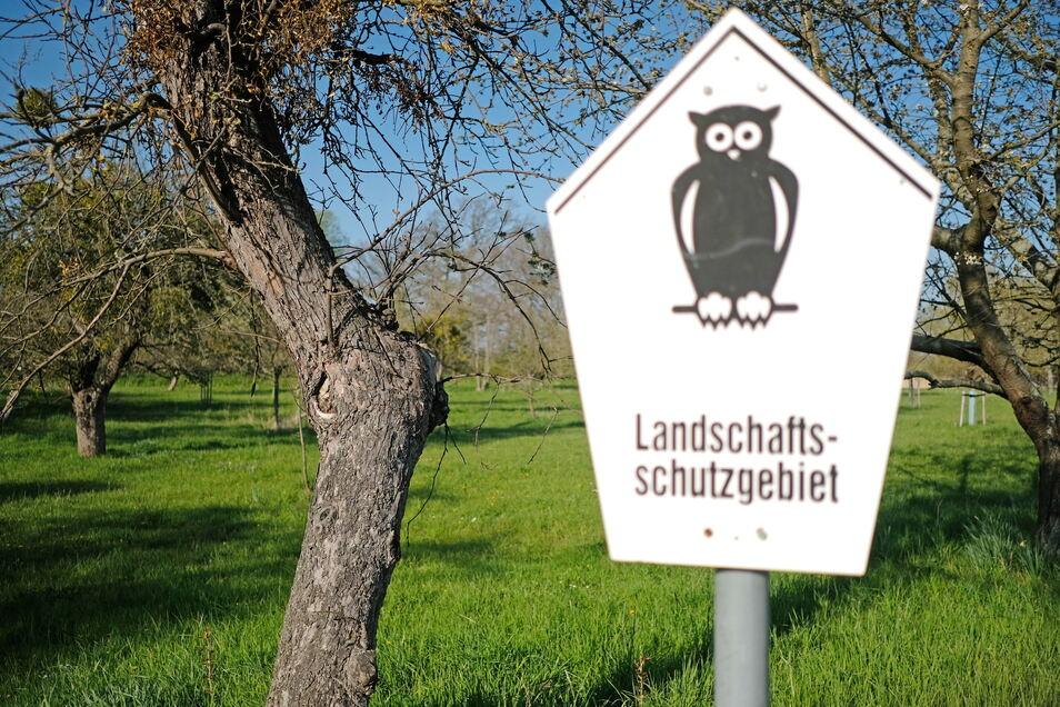 Viele Streuobstwiesen sind als Landschaftsschutzgebiet gekennzeichnet.
