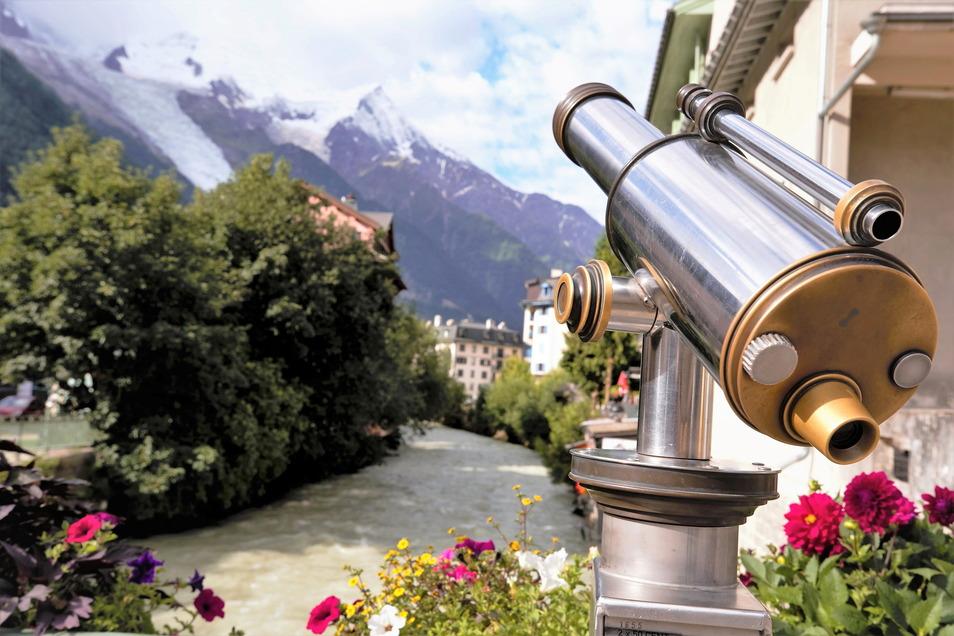 Blick zum Mont Blanc, höchster Berg der Alpen.