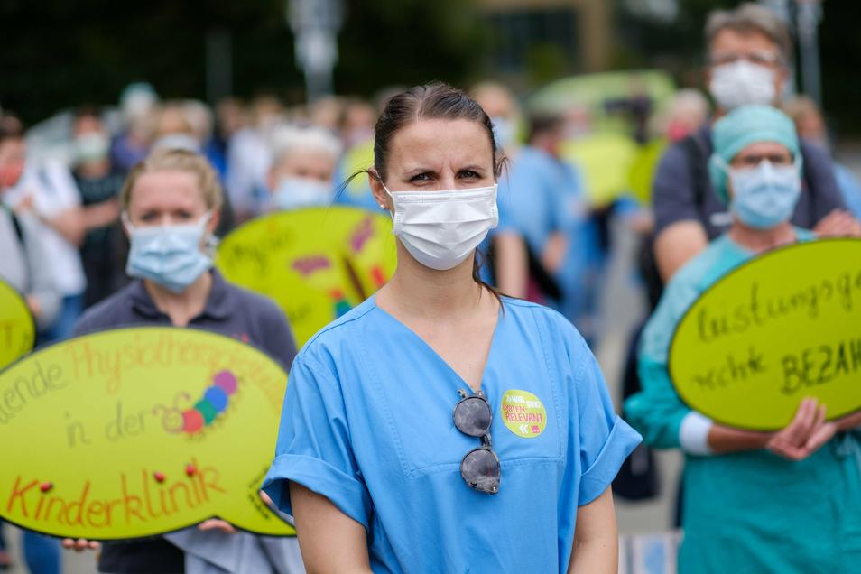 Auch Krankenschwestern bekamen zwar viel Beifall, aber kaum bessere Arbeitsbedingungen.