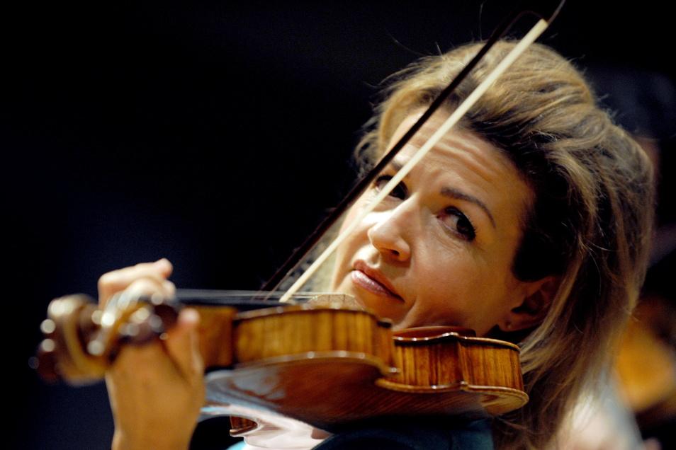 Eröffnet am 7. November die erstmals zweigeteilt stattfindenden Dresdner Musikfestspiele: Geigerin Anne-Sophie Mutter.