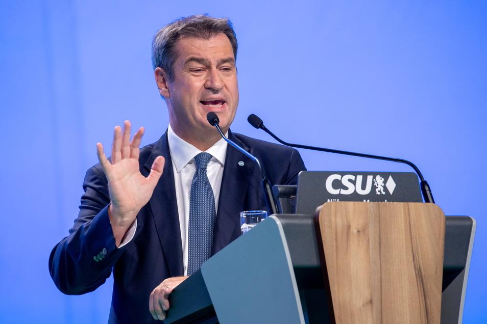 Markus Söder ist auf dem Parteitag als Parteichef wiedergewählt worden.