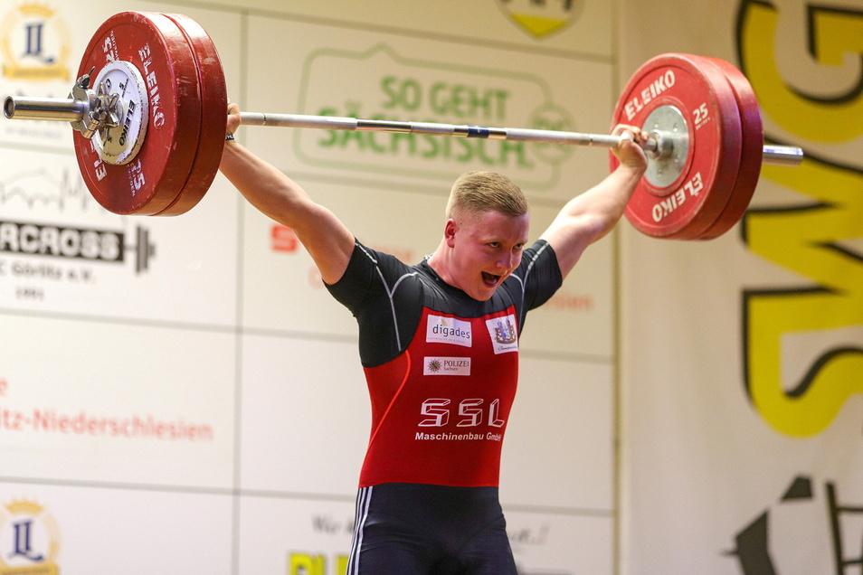 Noch 15 Kilo fehlen bis zur deutschen Spitze für Erik Ludwig. Der junge Eibauer ist aber auf einem guten Weg.