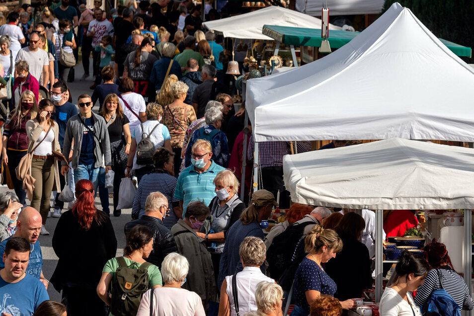 Hunderte Besucher strömten zum Töpferfest nach Neukirch.