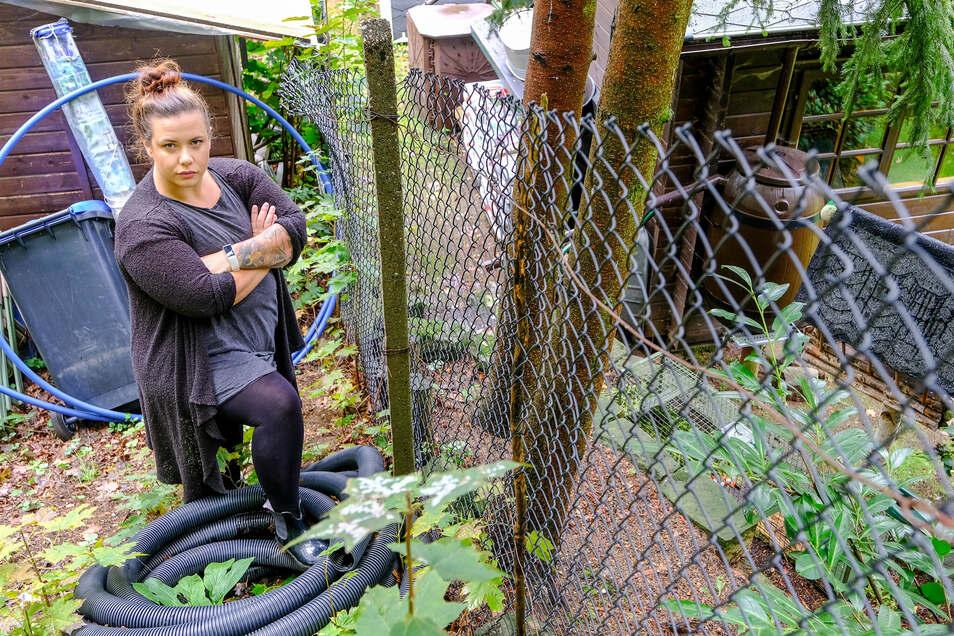 """Claudia Jost aus Radebeul will nicht, dass Waschbären getötet werden: """"Ich überlege, in unserem Garten eine Auffangstation für Waschbären einzurichten."""" Etwa vier Waschbären dürfte sie auf 30 Quadratmetern halten."""