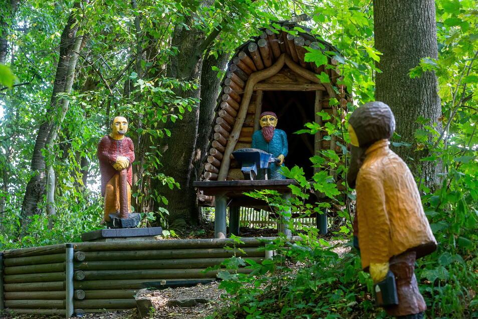 Auf der Märchenwiese in Reinhardtsgrimma gibt es einiges zu entdecken.