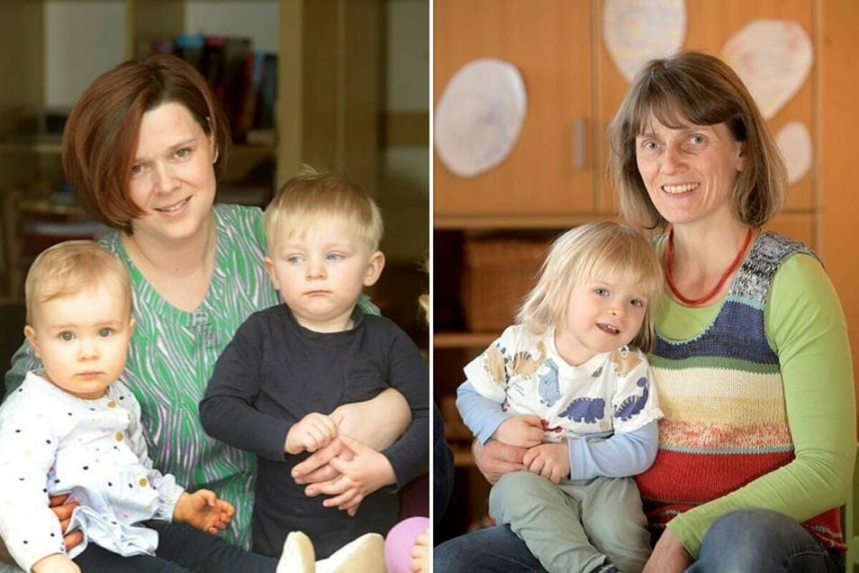 Katja Meyer (links) und Annett Gnieser arbeiten als Tagesmütter in Löbau.