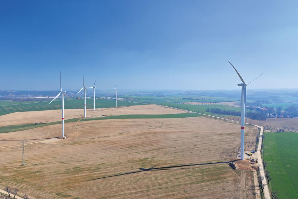 Windpark Wölkisch bei Lommatzsch