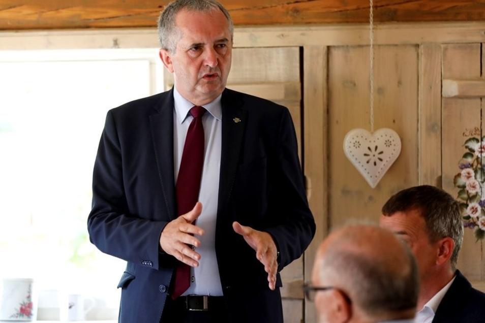 Minister Thomas Schmidt wagte auch einen Blick in die Zukunft des Förderprogrammes.