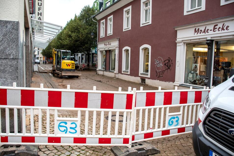 Für die Reparatur muss die Fronstraße in Döbeln gesperrt werden.