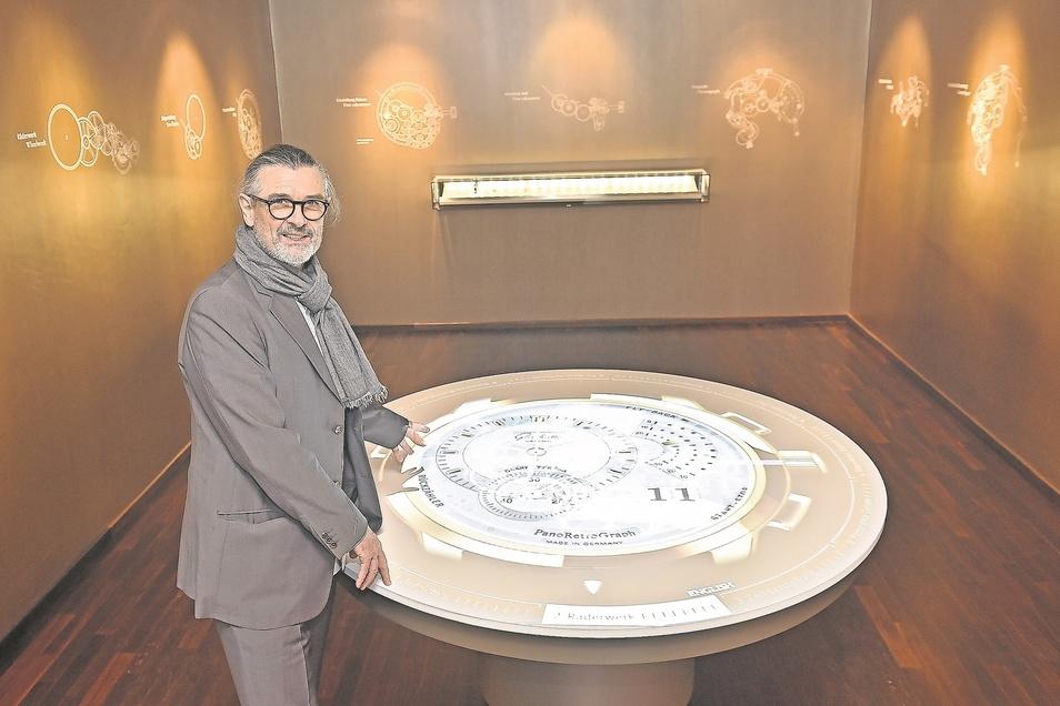 Uwe Brückner kommt immer wieder gern nach Glashütte zurück. Hier hat er vor mehr als zehn Jahren eine Ausstellung geschaffen, mit der nicht nur er noch hochzufrieden ist.