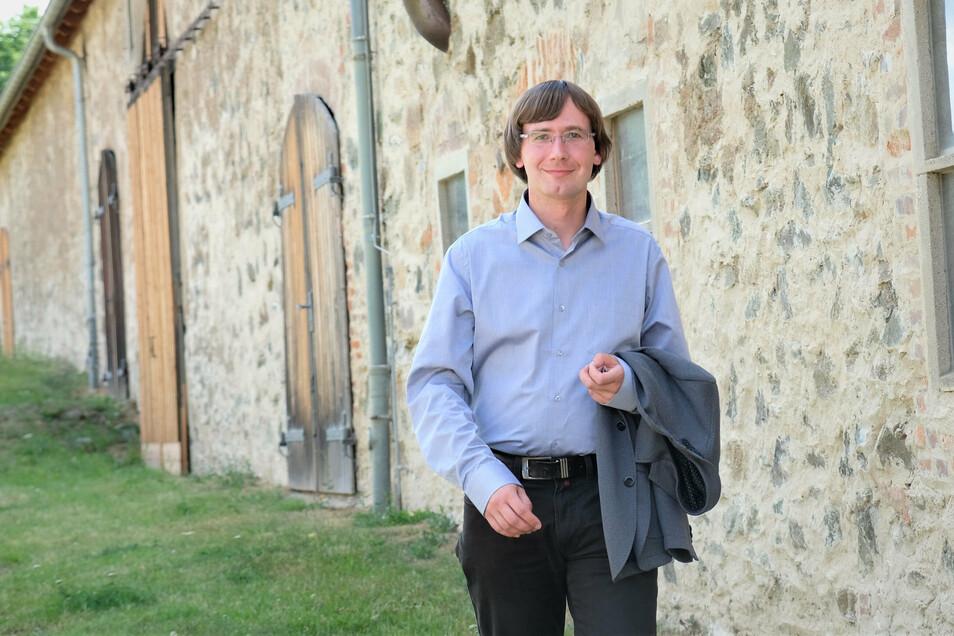 Christian Bartusch kandidiert für das höchste Amt in der Stadt Nossen.