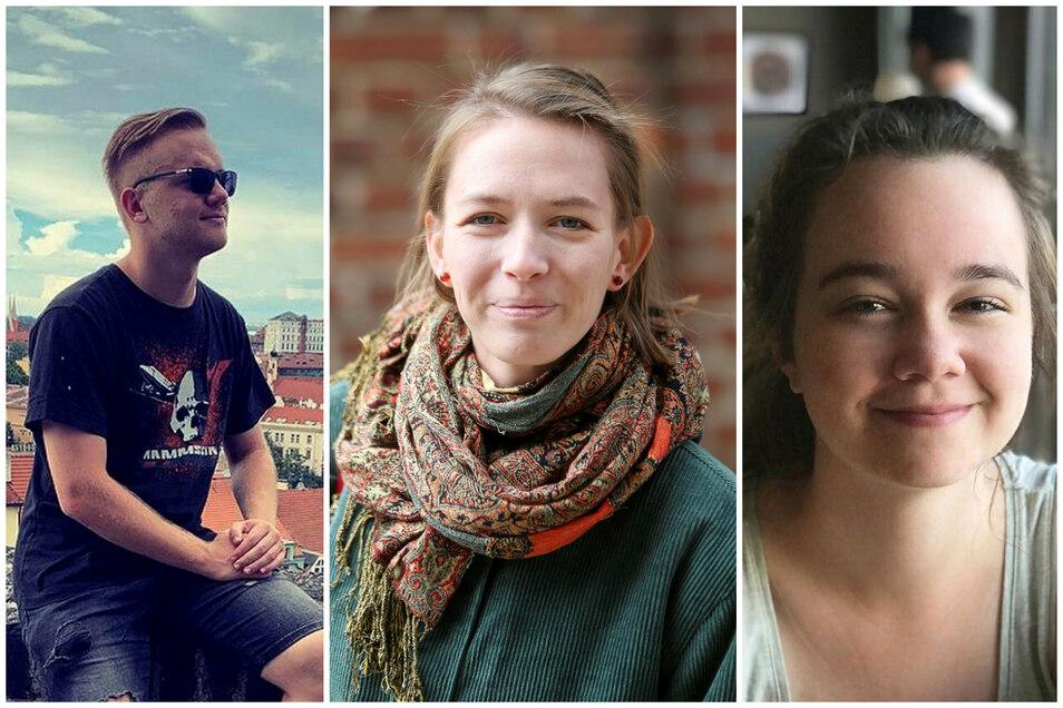 Florian Wehrstedt, Anna-Lisa Fichte und Anna Diepold sind nach der Wende geboren - trotzdem haben sie persönliche Beziehung zur Wende und Wiedervereinigung.
