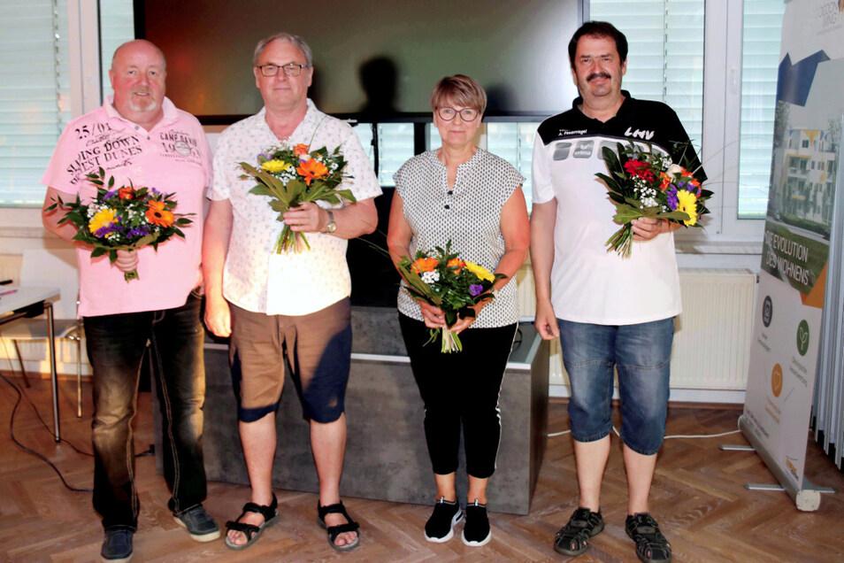 Vorstand vom LHV: Frank Scheibe (Sportlicher Leiter), Jürgen Schröter (Präsident), Sybill Zaunick (Schatzmeisterin), André Feuerriegel (Kinder- und Jugendarbeit) v.l.n.r. Es fehlt Detlev Fleck (Vize-Präsident) auf dem Bild.