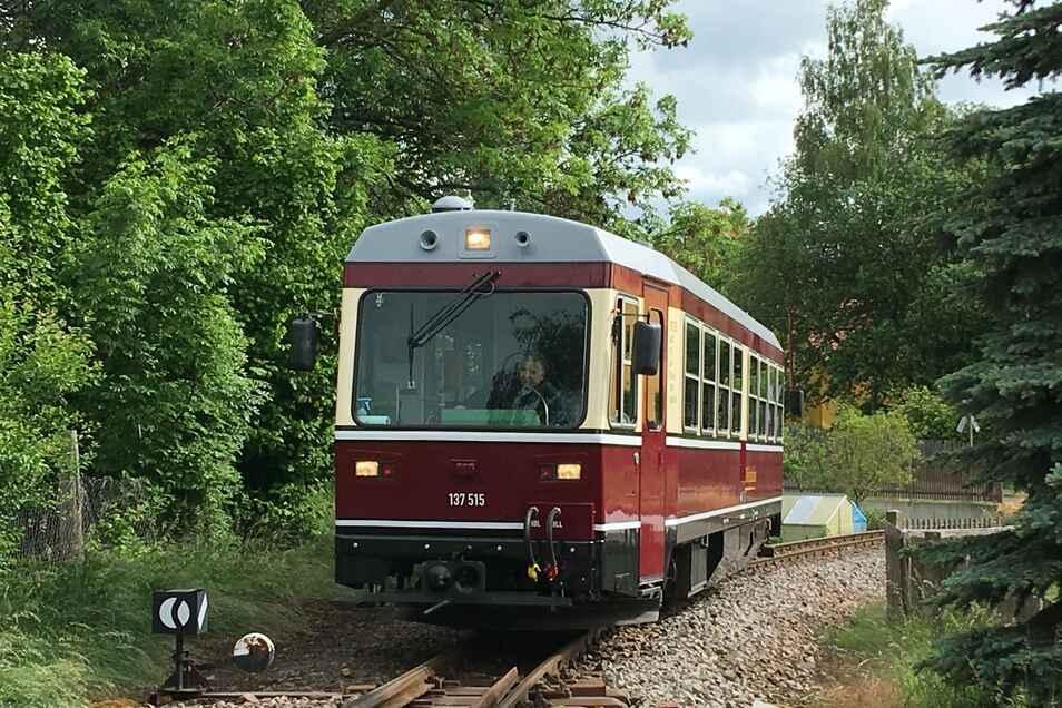 Die Döllnitzbahn fährt normalerweise im Elbland.