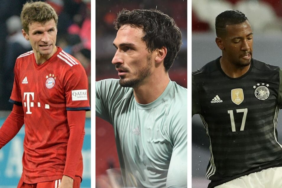Thomas Müller, Mats Hummels und Jerome Boateng (v. l.) laufen nicht mehr für die Nationalelf auf.
