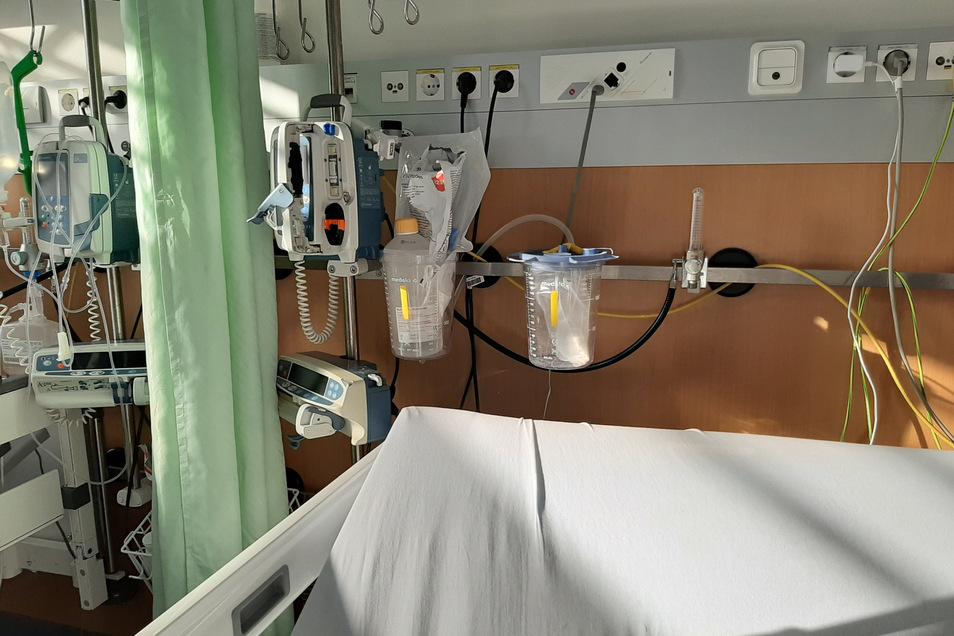 Der Patient hat ein Foto seines Covid-19-Krankenbetts gemacht.