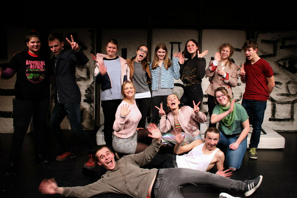 """Dieses Foto der Meißner Jugendtheatertruppe entstand im vorigen Jahr während der Erarbeitung des Stücks """"Frühlingserwachen – Auf Crystal Meth""""."""