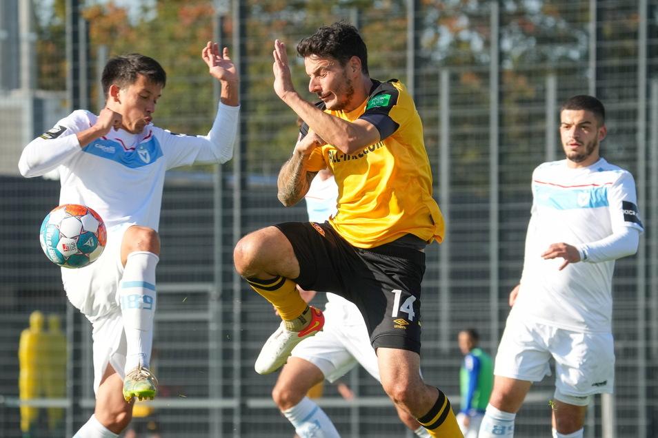 Philipp Hosiner durfte gegen Vitkoria Berlin von Beginn an stürmen und erzielte schon früh das 1:0 für Dynamo.