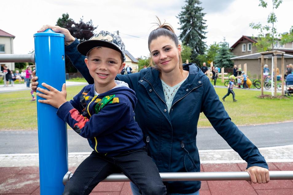 Nicole Krahnke war mit ihrem Sohn zur Eröffnung gekommen. Beide waren begeistert von der Anlage.