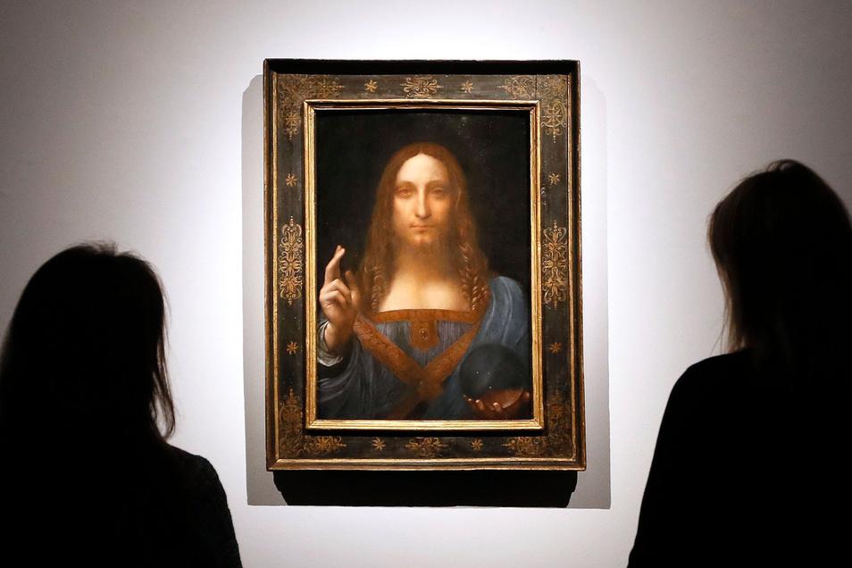 """Leonardo da Vincis Gemälde """"Salvator Mundi"""" gilt als das teuerste je versteigerte Bild der Welt."""