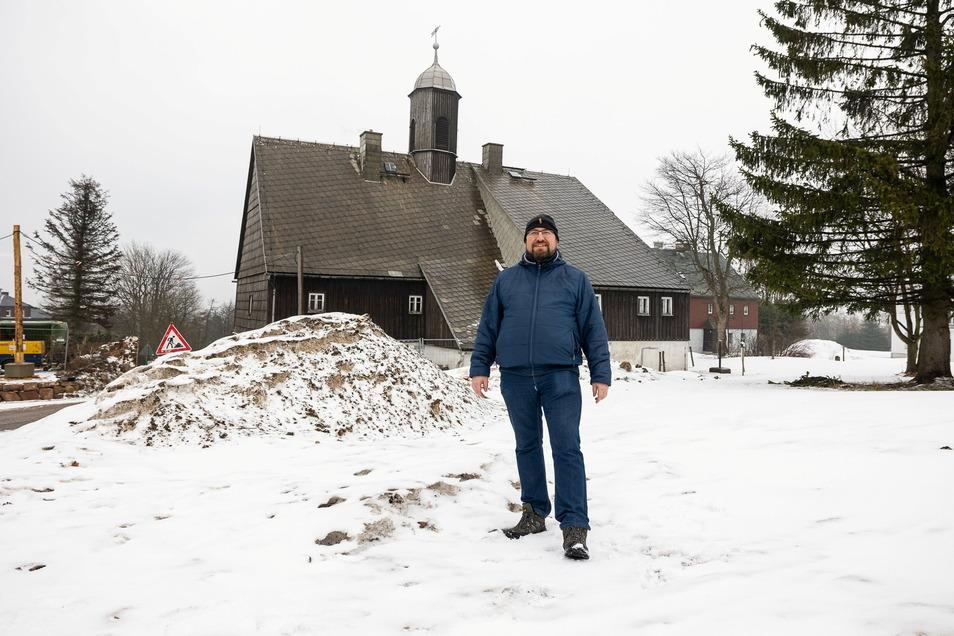 Möchte im Zinnwalder Huthaus ein Wettermuseum aufbauen: Norbert Märcz vom Wetterverein Zinnwald-Georgenfeld