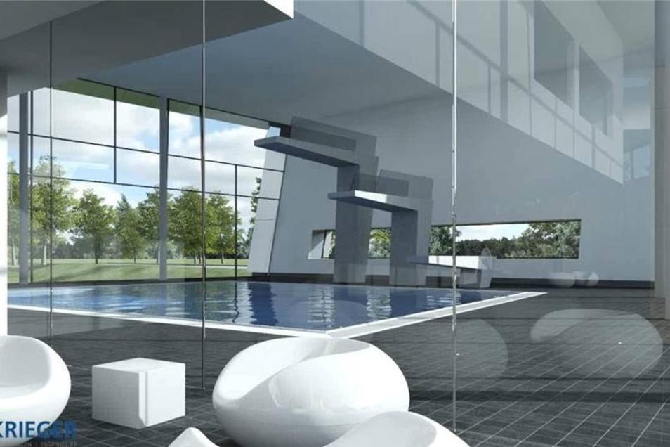 Die neue Sprunghalle ermöglicht Sprünge aus einem, drei und fünf Metern Höhe. Zudem hat sie einen variablen Boden, so dass hier auch Kurse stattfinden können.