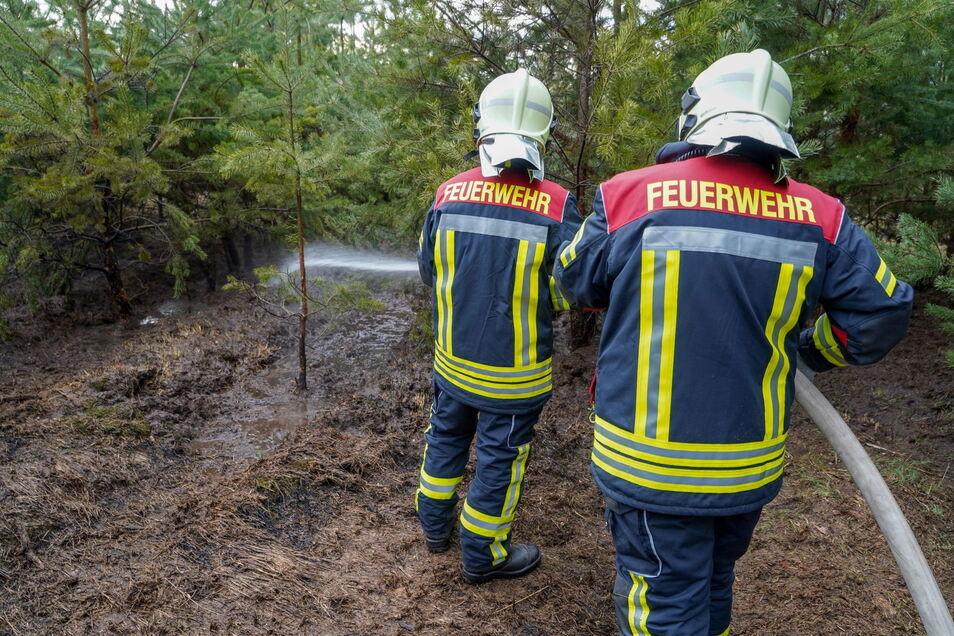 Die Kameraden der Feuerwehren Königswartha und Umgebung konnten den Brand schnell bekämpfen.