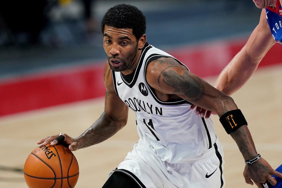 Könnte für die Brooklyn Nets wohl nur in den Auswärtsspielen antreten: Guard Kyrie Irving .