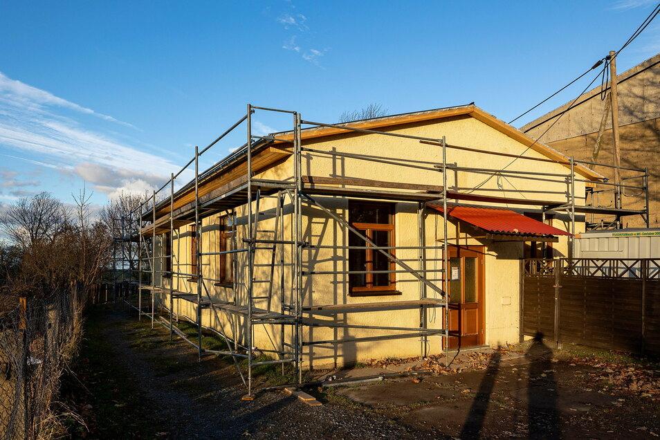 Das Schützenhaus in Dittersdorf bekommt ein neues Dach. So war es auch geplant.