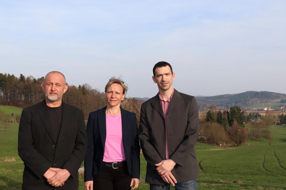 Treten für die Oppacher Bürgerliste an: Jens Müller, Heike Henke und Holger Schmidt.