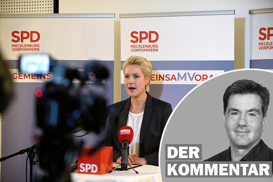 Manuela Schwesig (SPD) will in Mecklenburg-Vorpommern mit den Linken Koalition.