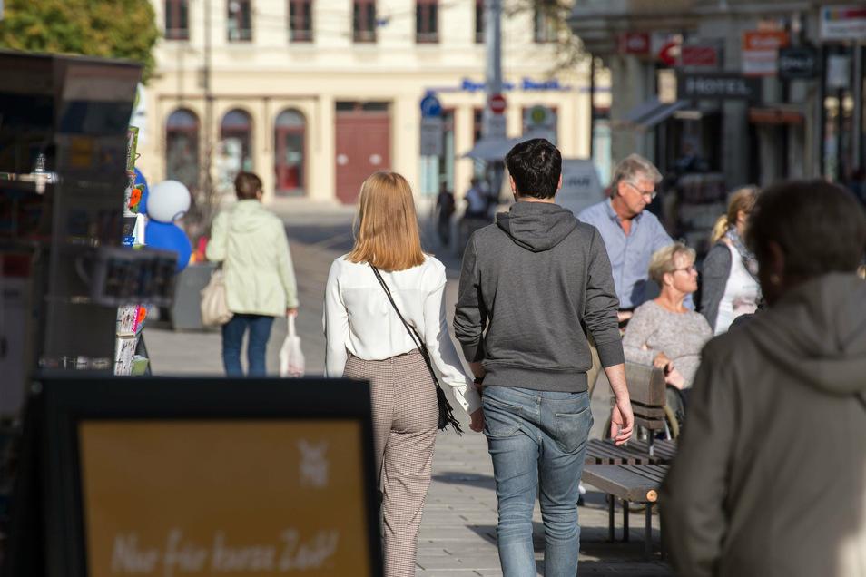 Leben auf der Berliner Straße: Die Einwohnerzahl von Görlitz hat sich in den vergangenen zwölf Monaten nur minimal verändert.