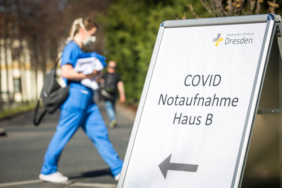 Viele Corona-Patienten sind in den vergangenen Wochen am Städtischen Klinikum Dresden behandelt worden, darunter zwei aus Frankreich.