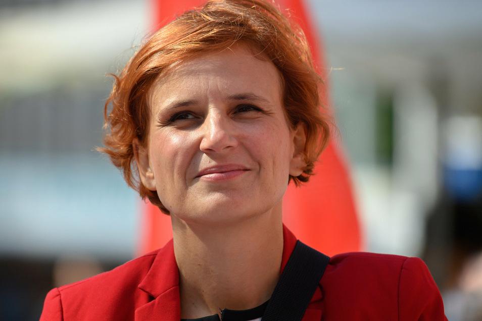 Die Dresdner Bundestagsabgeordnete Katja Kipping (Die Linke) fordert eine Impf-Offensive für Dresden.